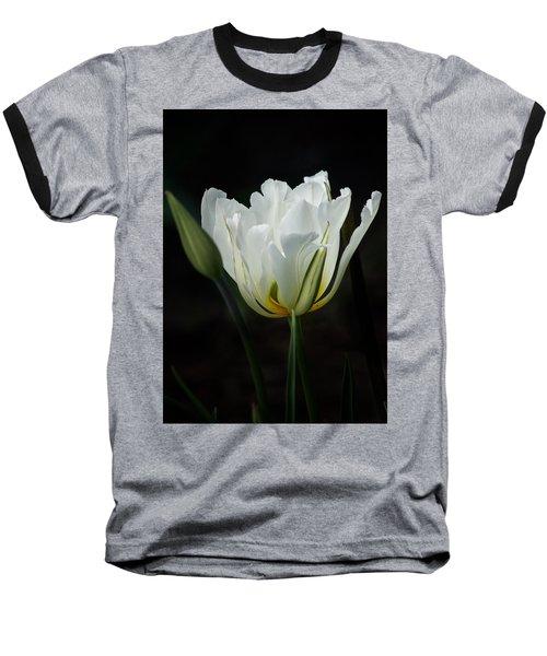 The White Tulip Baseball T-Shirt by Richard Cummings