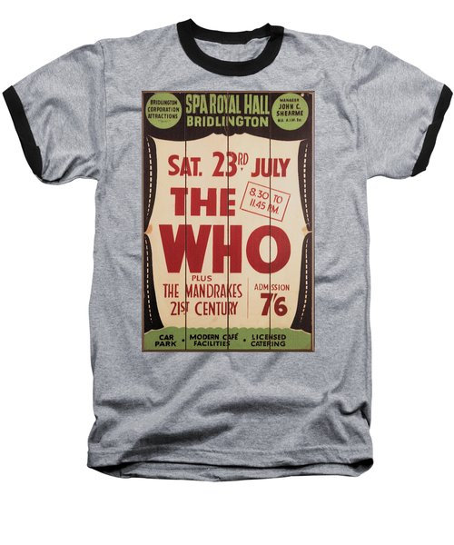 The Who 1966 Tour Poster Baseball T-Shirt