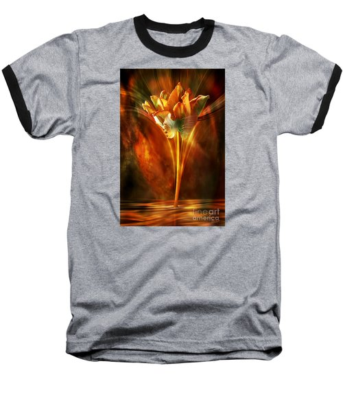 Baseball T-Shirt featuring the digital art The Wild And Beautiful by Johnny Hildingsson