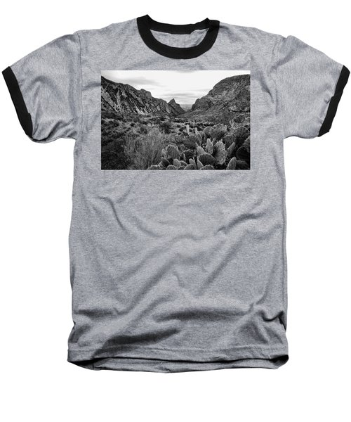 The Window 2 Black And White Baseball T-Shirt