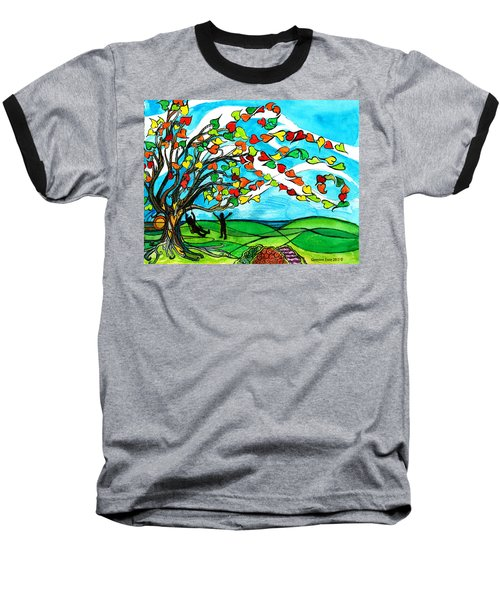 The Windy Tree Baseball T-Shirt by Genevieve Esson