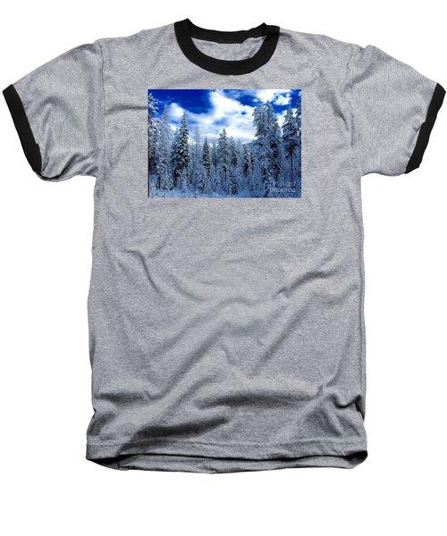The Winter Blues  Baseball T-Shirt by Jennifer Lake