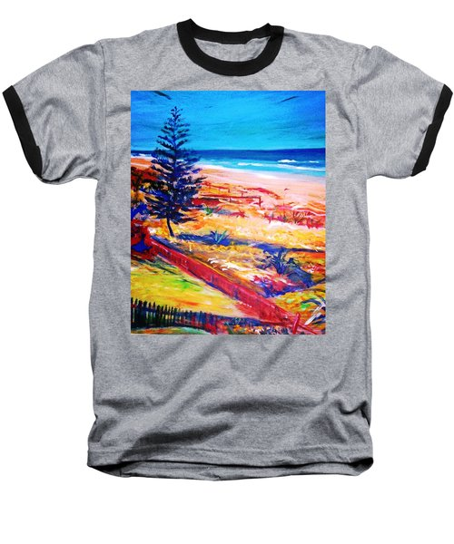 Baseball T-Shirt featuring the painting The Winter Dunes by Winsome Gunning