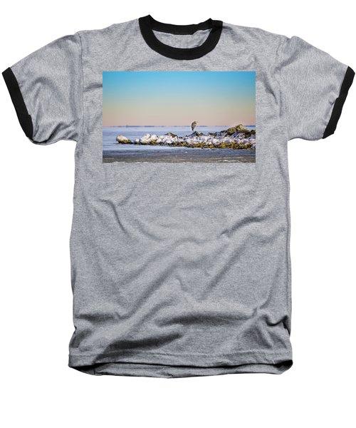 The Winter Heron Baseball T-Shirt