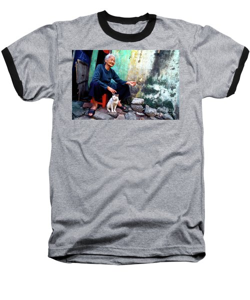 The Woman And The Cat Baseball T-Shirt