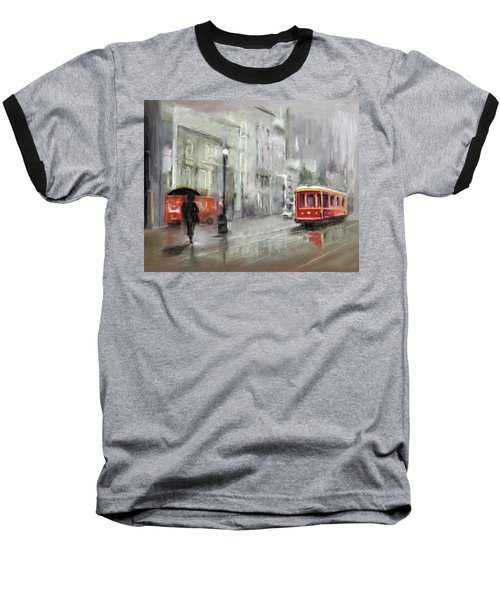 The Woman In The Rain Baseball T-Shirt