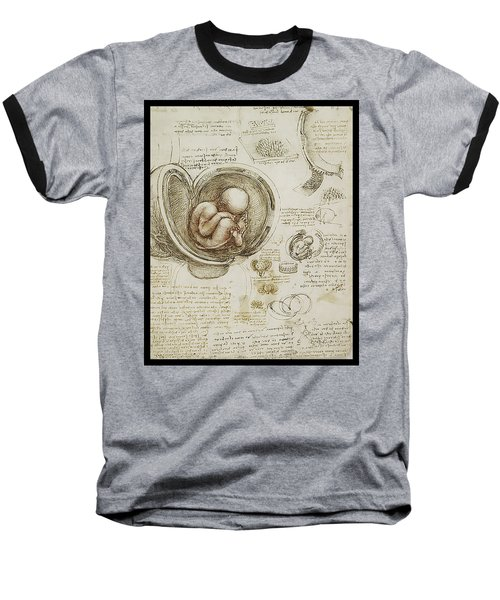 Baseball T-Shirt featuring the painting The Womb And Embreyo  by James Christopher Hill