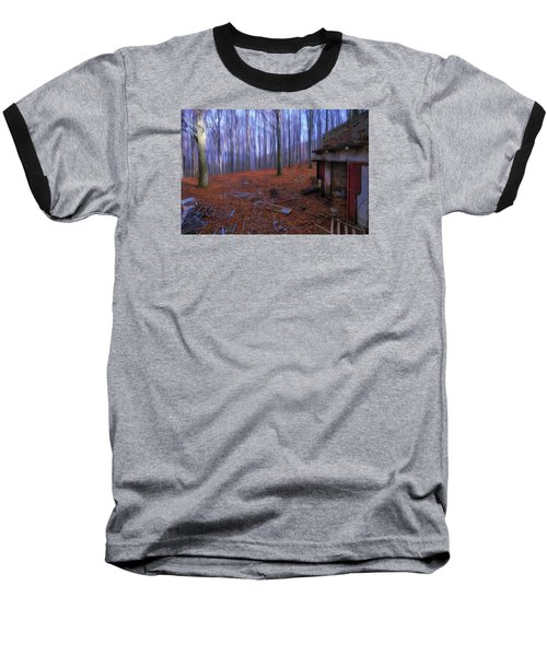 The Wood A La Magritte - Il Bosco A La Magritte Baseball T-Shirt