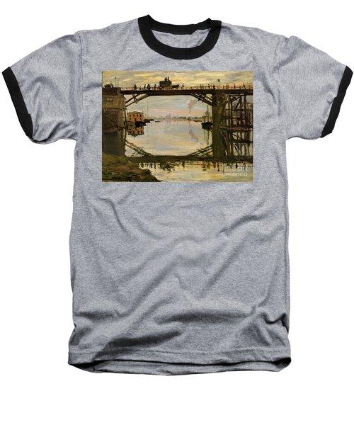 The Wooden Bridge Baseball T-Shirt by Monet