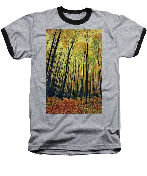 Baseball T-Shirt featuring the photograph The Woods In The North by Michelle Calkins