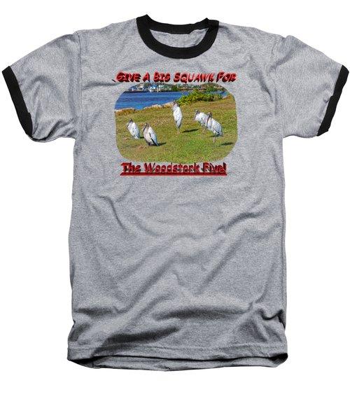 The Woodstork Five Baseball T-Shirt by John M Bailey