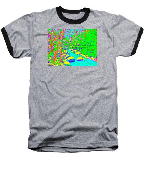 This World Is But A Canvas Baseball T-Shirt by Deborah Dendler