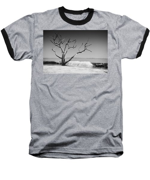 Baseball T-Shirt featuring the photograph The World Is Coming Down II by Dana DiPasquale