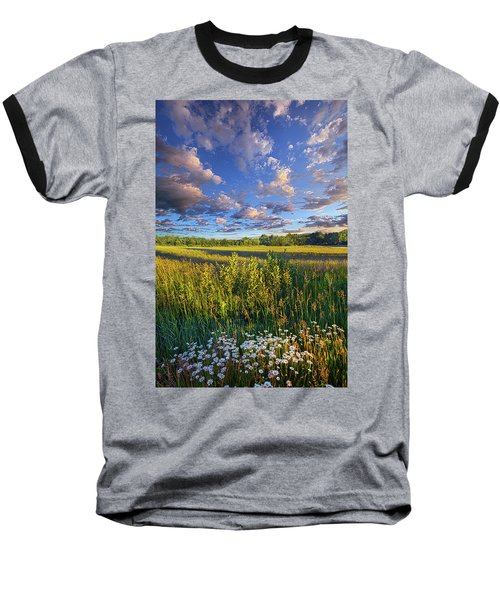 The World Is Quiet Here Baseball T-Shirt by Phil Koch