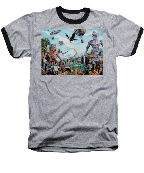 The World Of Ray Harryhausen Baseball T-Shirt by Tony Banos
