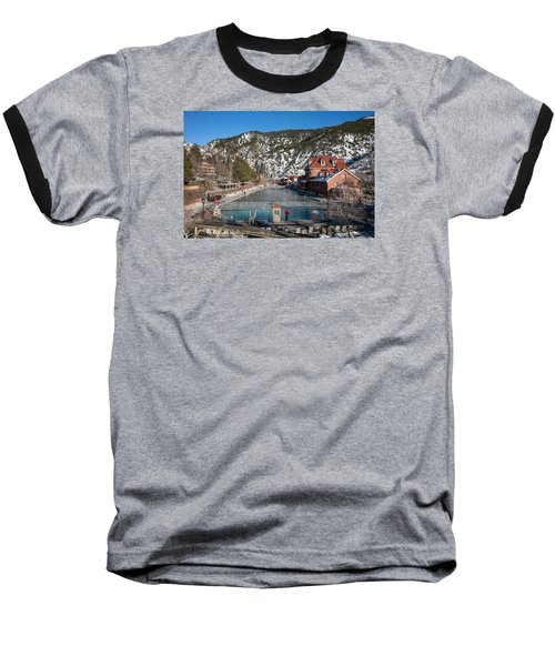 The World's Largest Hot-springs Pool At The Spa Of The Rockies In Glenwood Springs Baseball T-Shirt by Carol M Highsmith