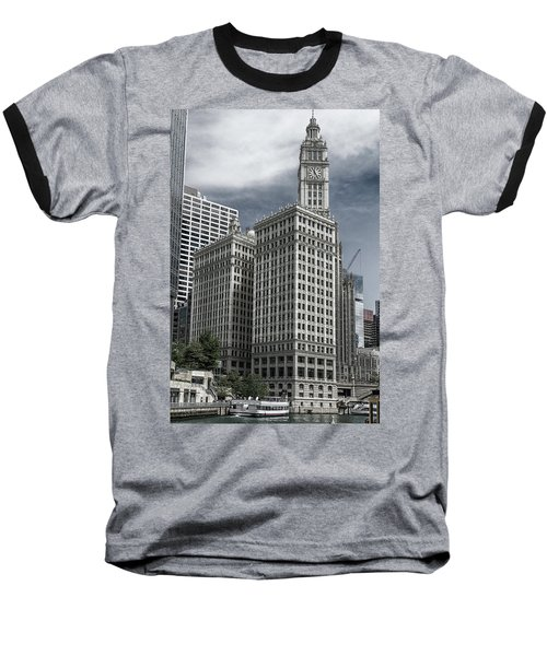 Baseball T-Shirt featuring the photograph The Wrigley Building by Alan Toepfer