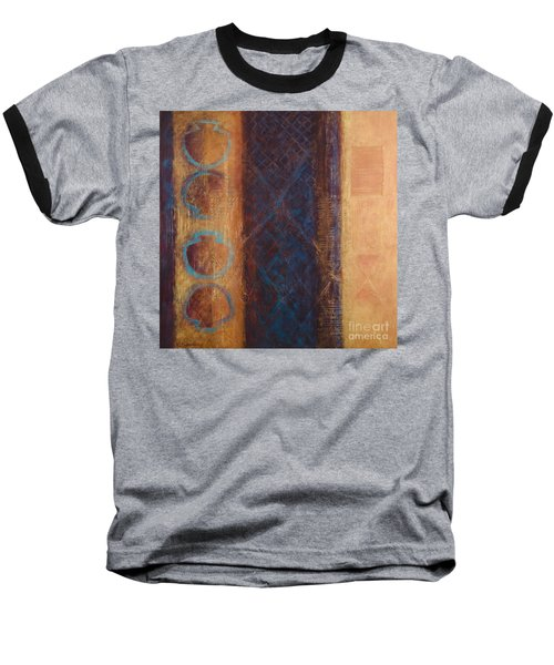 Baseball T-Shirt featuring the painting The X Factor Alchemy Of Consciousness by Kerryn Madsen-Pietsch