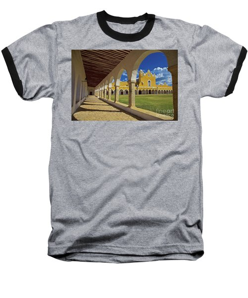The Yellow City Of Izamal, Mexico Baseball T-Shirt by Sam Antonio Photography