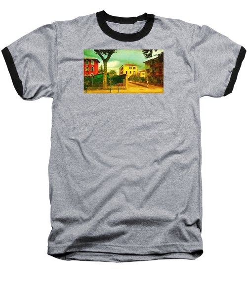 Baseball T-Shirt featuring the photograph The Yellow House by Anne Kotan
