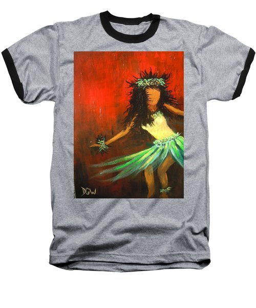 Baseball T-Shirt featuring the painting The Young Dancer by Dan Whittemore