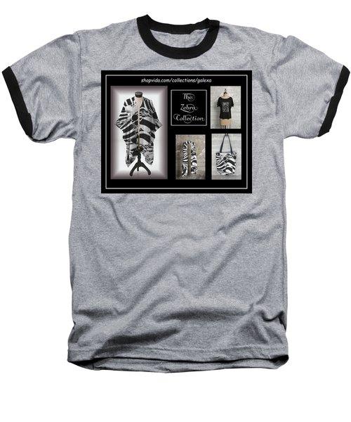 The Zebra Collection Baseball T-Shirt by Geraldine Alexander