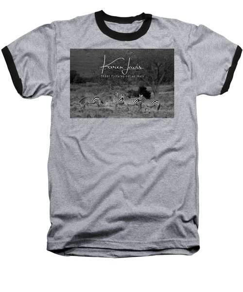 Baseball T-Shirt featuring the photograph The Zebra Tree by Karen Lewis