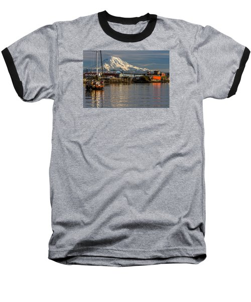 Thea Foss Waterway And Rainier 1 Baseball T-Shirt by Rob Green