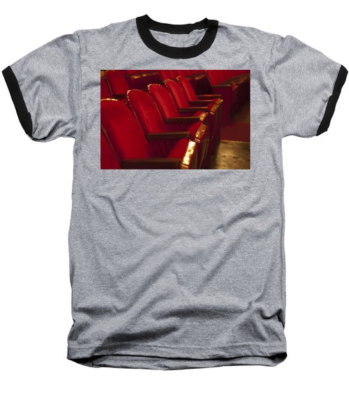 Theater Seating Baseball T-Shirt by Carolyn Marshall
