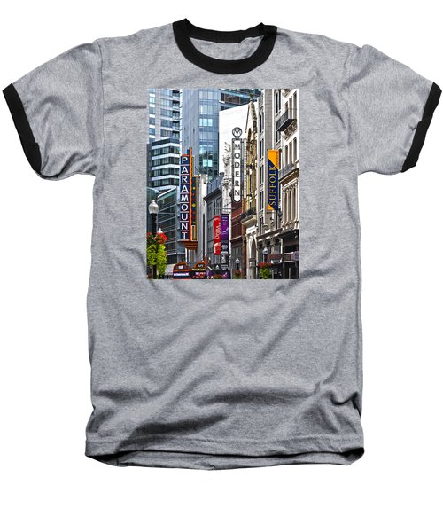 Theatre District Baseball T-Shirt by Stephen Flint