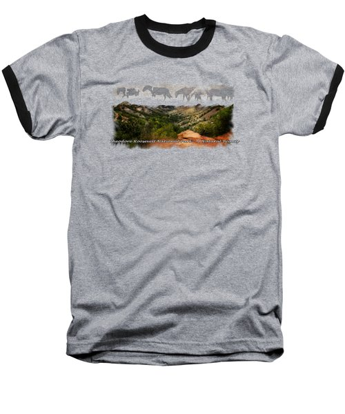 Theodore Roosevelt National Park Baseball T-Shirt by Ann Lauwers