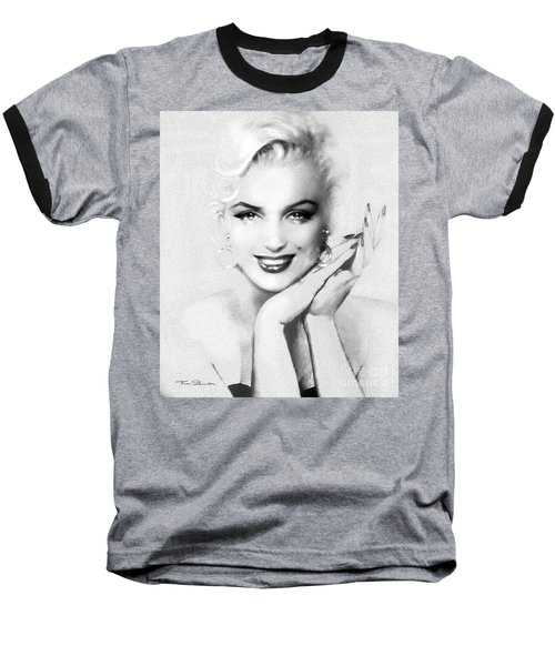 Theo's Marilyn 133 Bw Baseball T-Shirt