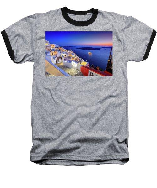 Thera Sunset  Baseball T-Shirt