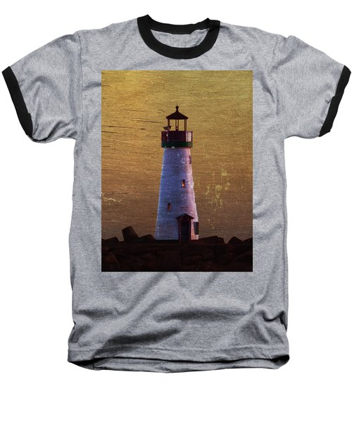 Baseball T-Shirt featuring the photograph There Is A Lighthouse by B Wayne Mullins
