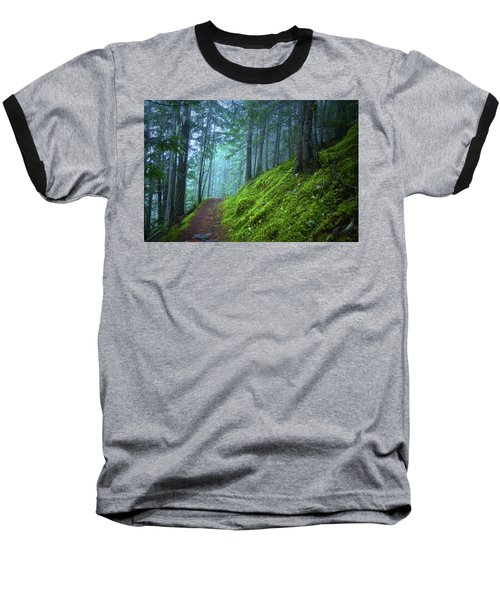 Baseball T-Shirt featuring the photograph There Is Light In This Forest by Tara Turner