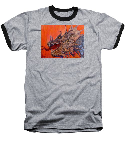 There Once Were Dragons Baseball T-Shirt by Barbara O'Toole
