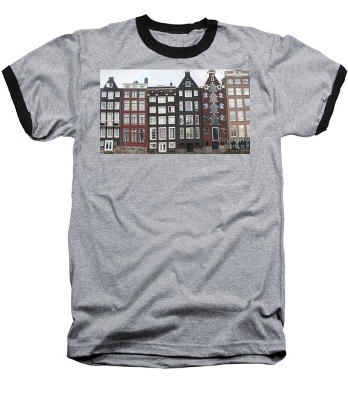 There Was A Crooked House Baseball T-Shirt by Therese Alcorn