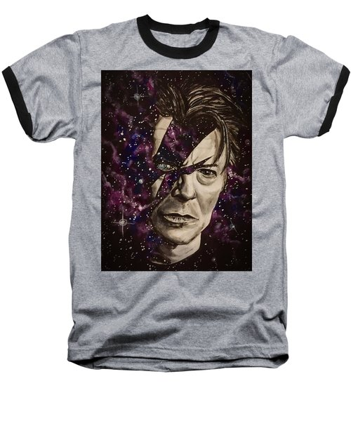There's A Starman Waiting In The Sky Baseball T-Shirt