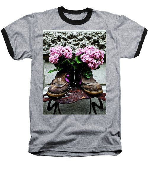 These Boots Are Made For Flowers Baseball T-Shirt