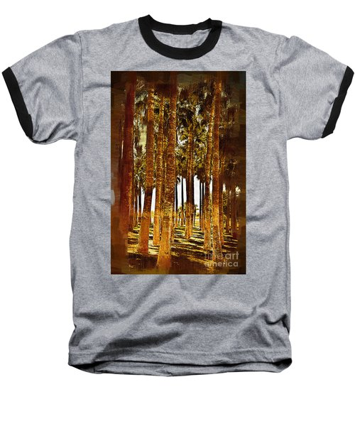 Thick Palm Trees Baseball T-Shirt by Kirt Tisdale