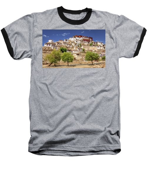Baseball T-Shirt featuring the photograph Thikse Monastery by Alexey Stiop