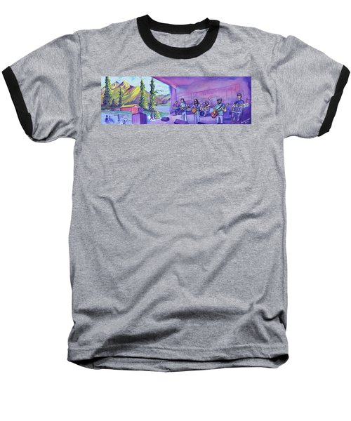 Baseball T-Shirt featuring the painting Thin Air At Dillon Amphitheater by David Sockrider
