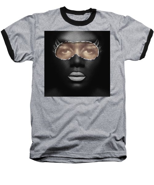 Thin Skinned Black Baseball T-Shirt by ISAW Gallery