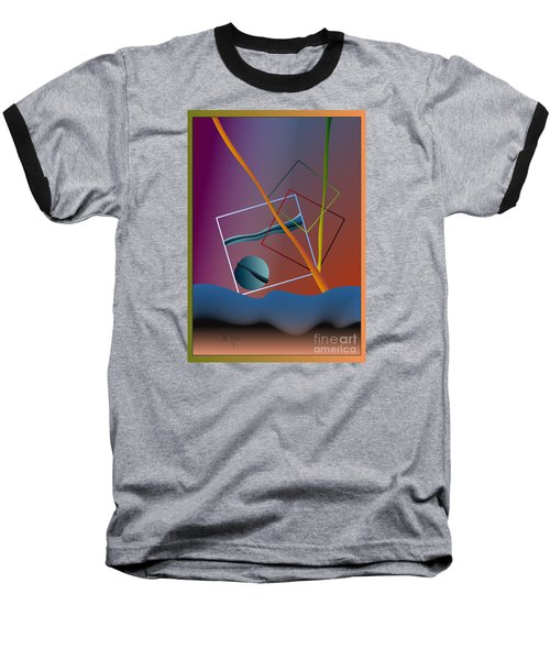Baseball T-Shirt featuring the digital art Thinking About The Future by Leo Symon