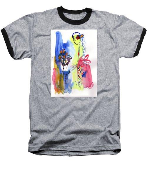 Thinking Of Tonight Baseball T-Shirt by Amara Dacer
