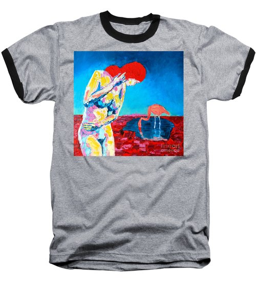 Baseball T-Shirt featuring the painting Thinking Woman by Ana Maria Edulescu