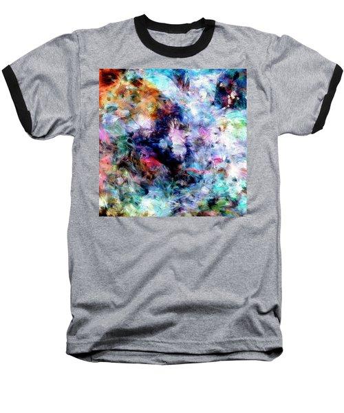 Baseball T-Shirt featuring the painting Third Bardo by Dominic Piperata