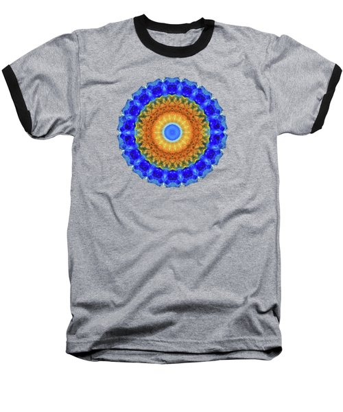 Third Eye Mandala Art By Sharon Cummings Baseball T-Shirt by Sharon Cummings