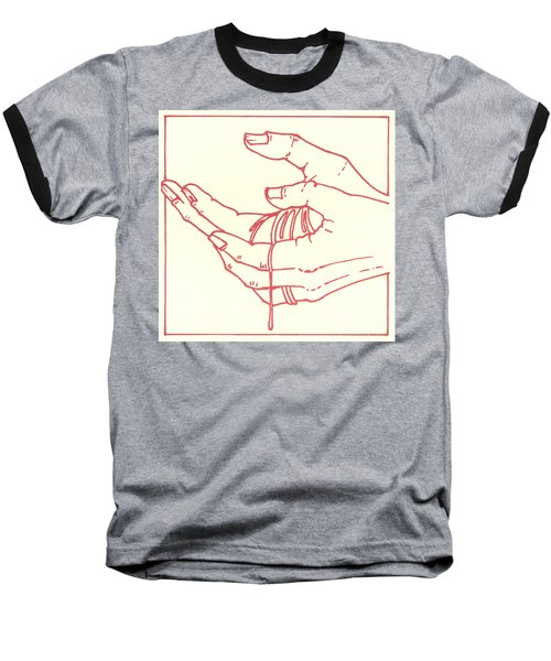 Baseball T-Shirt featuring the drawing Thirteenth Station- Jesus Is Taken Down From The Cross by William Hart McNichols