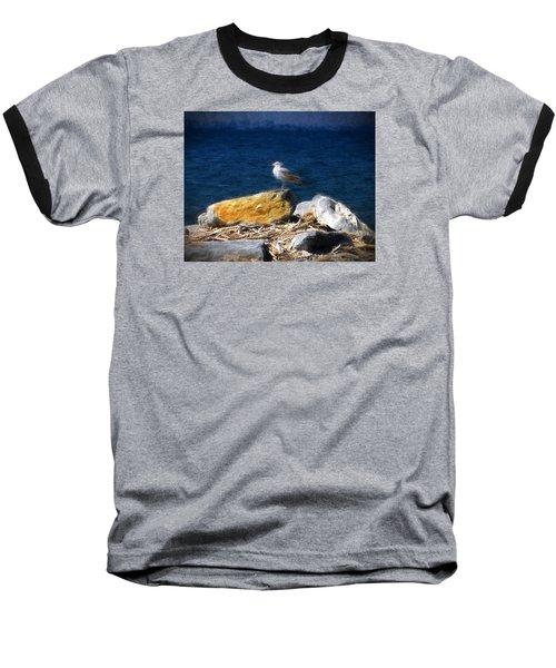 Baseball T-Shirt featuring the photograph This Gull Has Flown by John Freidenberg